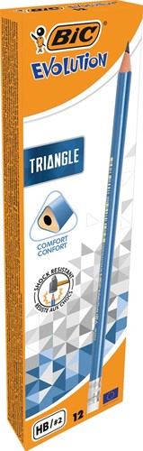 Bic potlood Evolution Triangle, met gom-2