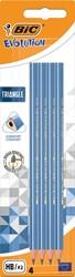 Bic potlood Evolution Triangle, blister van 4 stuks