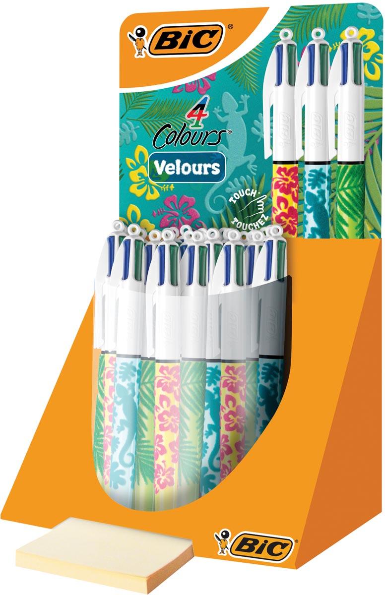 Bic display 4 Colours Velours 30 stuks