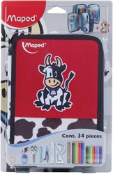 Maped gevulde pennenzak cow 34-delig