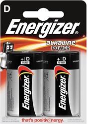 Energizer batterijen Alkaline Power D, blister van 2 stuks
