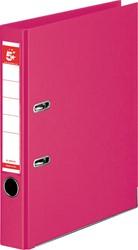 5 Star ordner, ft A4, rug van 50mm, volledig uit PP, roze