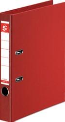 5 Star ordner, ft A4, rug van 5 cm, volledig uit PP, rood