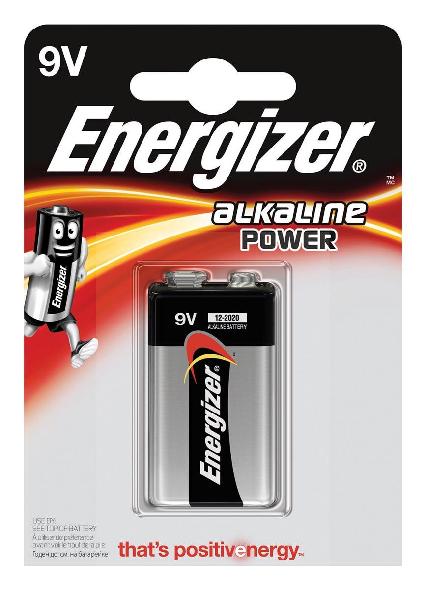 Energizer Power 6LR61 9 V batterij (blok) Alkali-mangaan 9 V 1 stuks