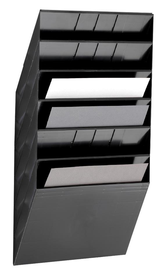 Durable Flexiboxx 6 A4 Landscape zwart