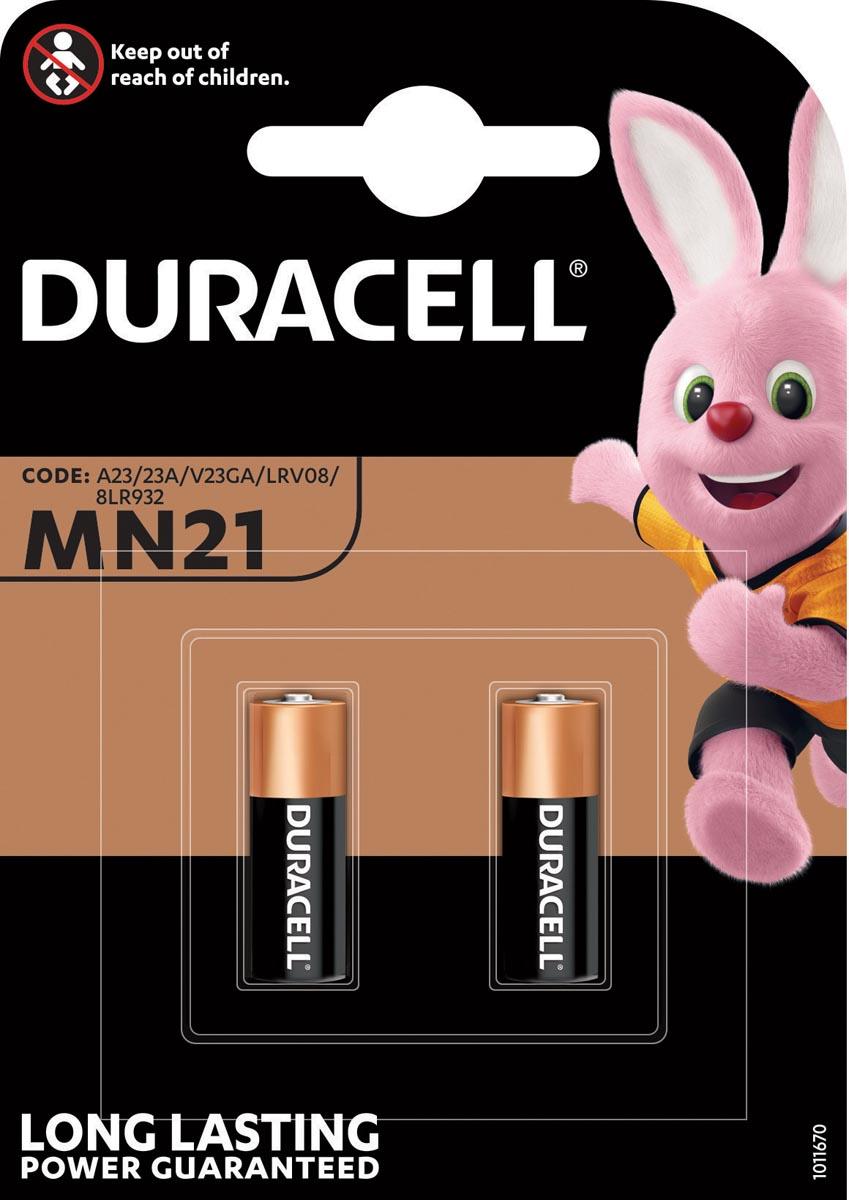 Duracell batterijen Alkaline Security MN21, blister van 2 stuks