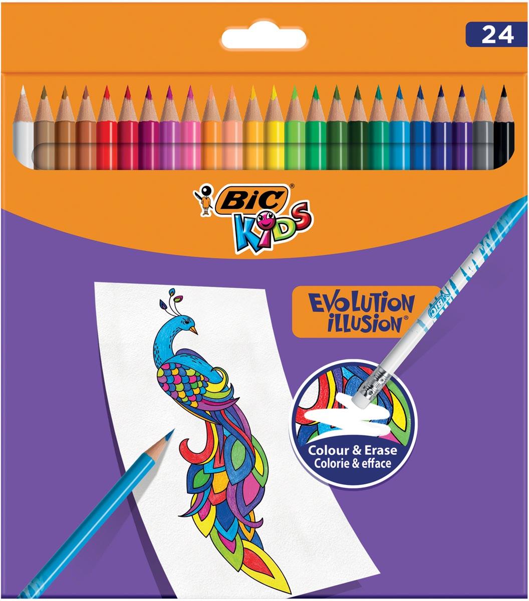 Bic Kids kleurpotlood Illusion Evolution, etui van 24 stuks