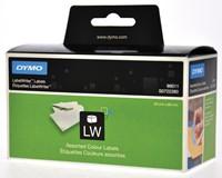 Dymo etiketten LabelWriter ft 89 x 28 mm, geassorteerde kleuren, 520 etiketten