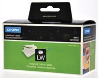 Dymo etiketten LabelWriter ft 89 x 28 mm, geassorteerde kleuren, 520 etiketten-2
