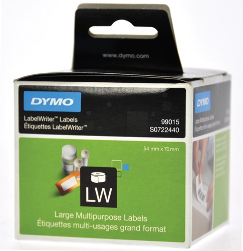 Dymo etiketten LabelWriter ft 70 x 54 mm, wit, 320 etiketten