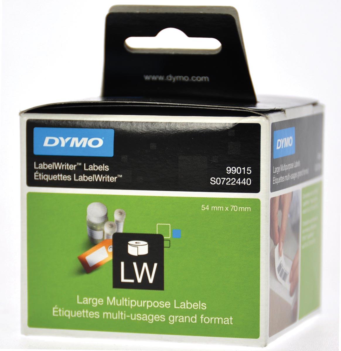 Dymo etiketten LabelWriter ft 70 x 54 mm, wit, 320 etiketten