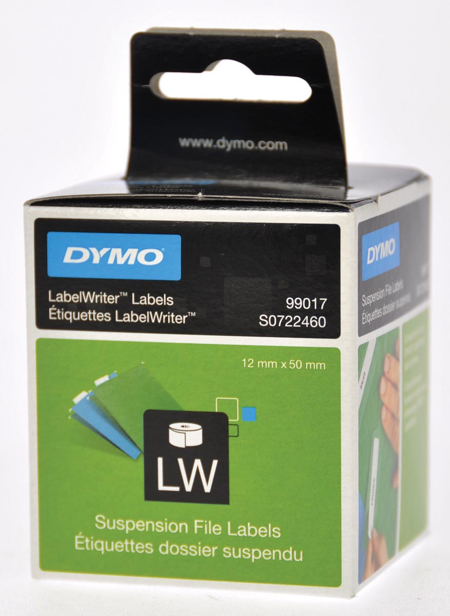 Dymo etiketten LabelWriter ft 50 x 12 mm, wit, 220 etiketten