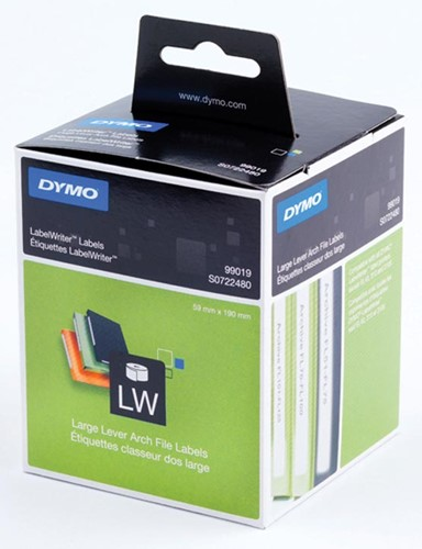 Dymo etiketten LabelWriter ft 190 x 59 mm, wit, 110 etiketten