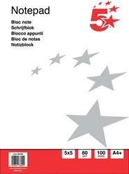 5 Star basis notitieboek, ft A4+, 100 vel, 60 gram, geruit 5 mm