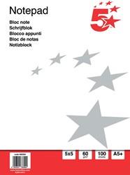 5 Star basis notitieboek, ft A5+, 100 vel, 60 gram