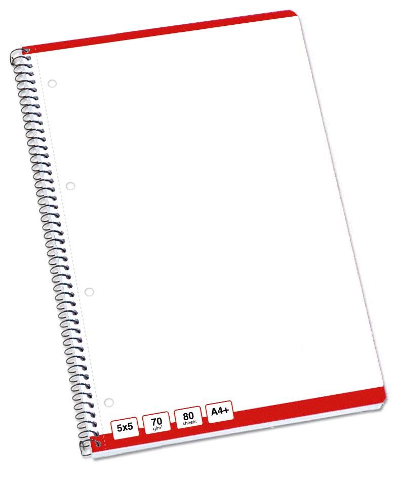 STAR basis spiraalblok, ft A4+, 160 bladzijden, 70 gram