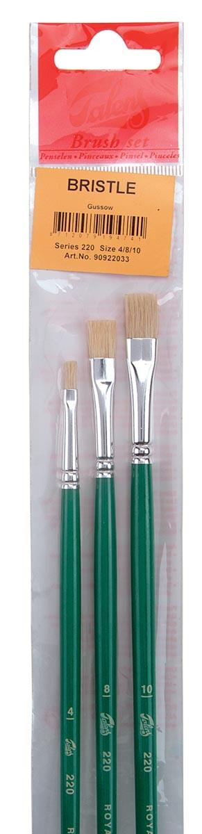 Talens olie- en acrylverf penselenset 220, set met 3 penselen