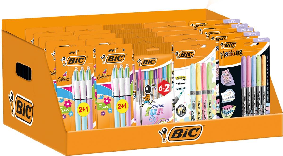 Bic Pastel counterdisplay met 41 stuks in geassorteerde kleuren