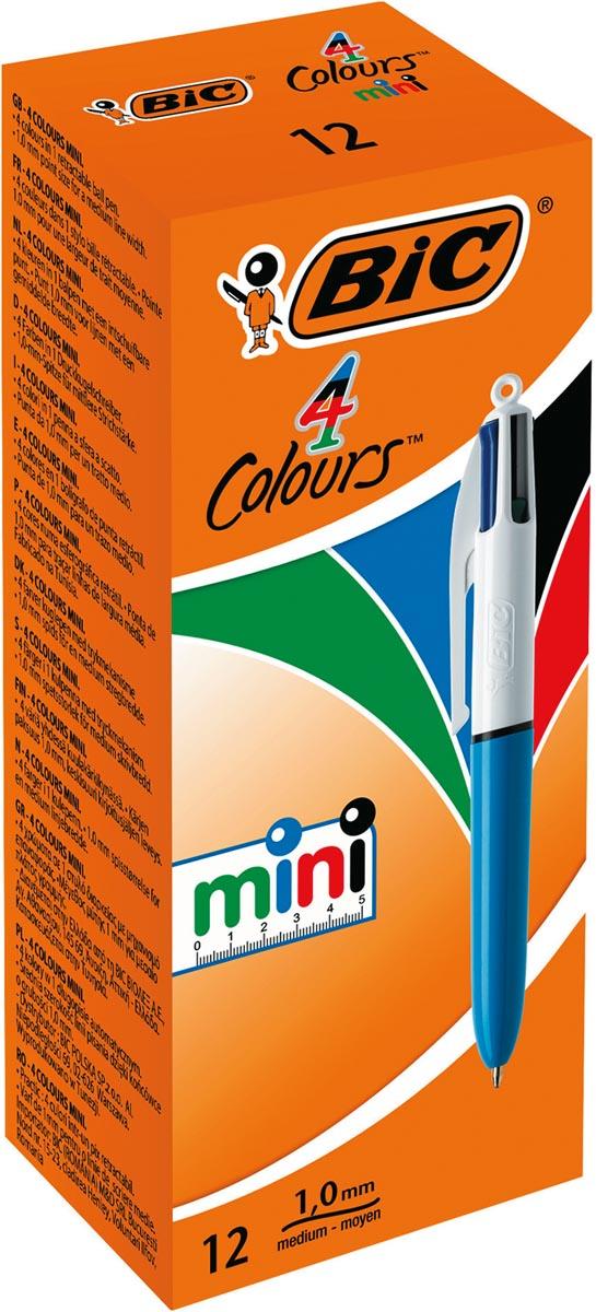 BIC 4 Colours Mini balpen, met kliksysteem, medium 1,0mm