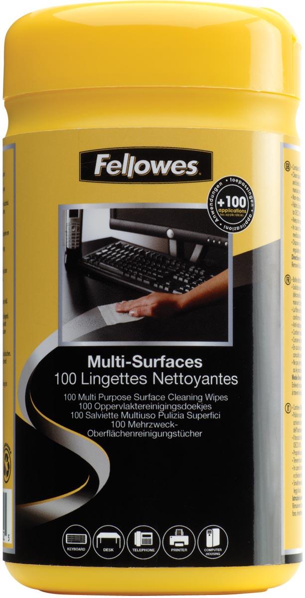Fellowes oppervlaktereinigingsdoekjes, pak van 100 doekjes