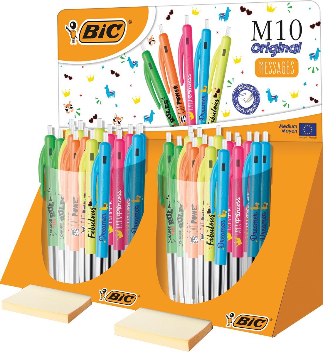 Bic balpen M10 Clic Message display van 80 stuks