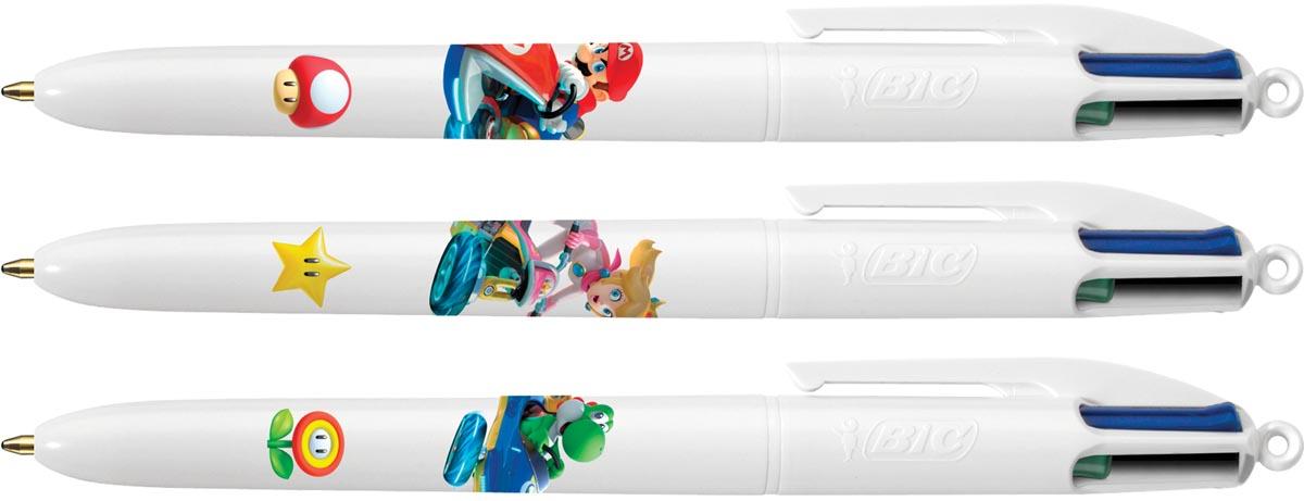 Bic 4 Colours Orginal balpen Mario, clipstrip met 12 blisters