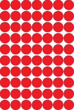 Apli ronde etiketten in etui diameter 19 mm, rood, 560 stuks, 70 per blad