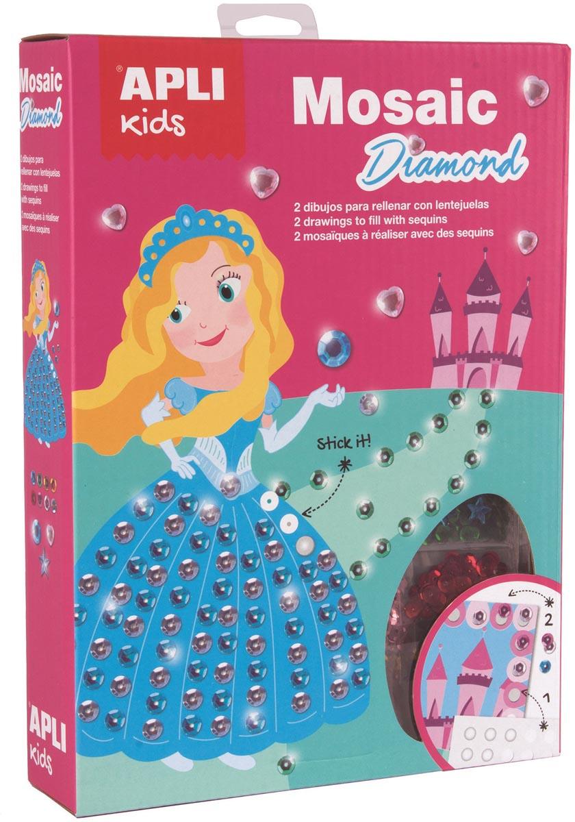 Apli Kids kit mozaïek, 2 stuks, diamanten