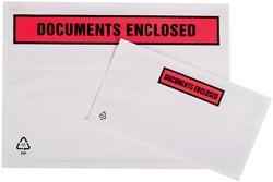 Tenzalopes zelfklevend documentenmapje ft A4, doos van 500 stuks
