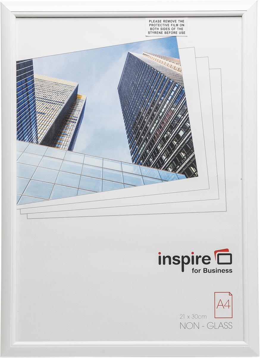 Hampton fotokader, 1.4 cm PVC profiel, wit, A4