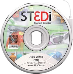 ST3Di 3D cartridge ABS 750G voor St3di printer, wit