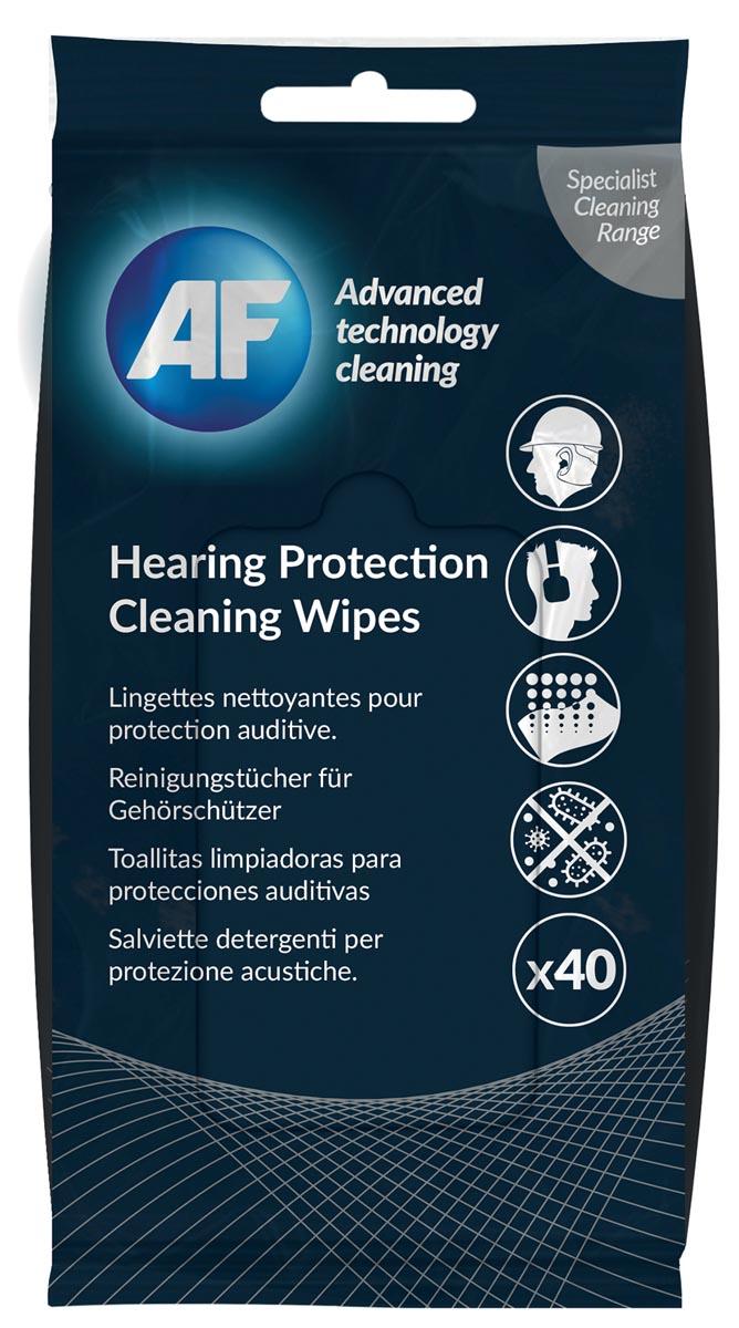 AF reinigingsdoekjes voor gehoorbescherming, pak van 40 doekjes