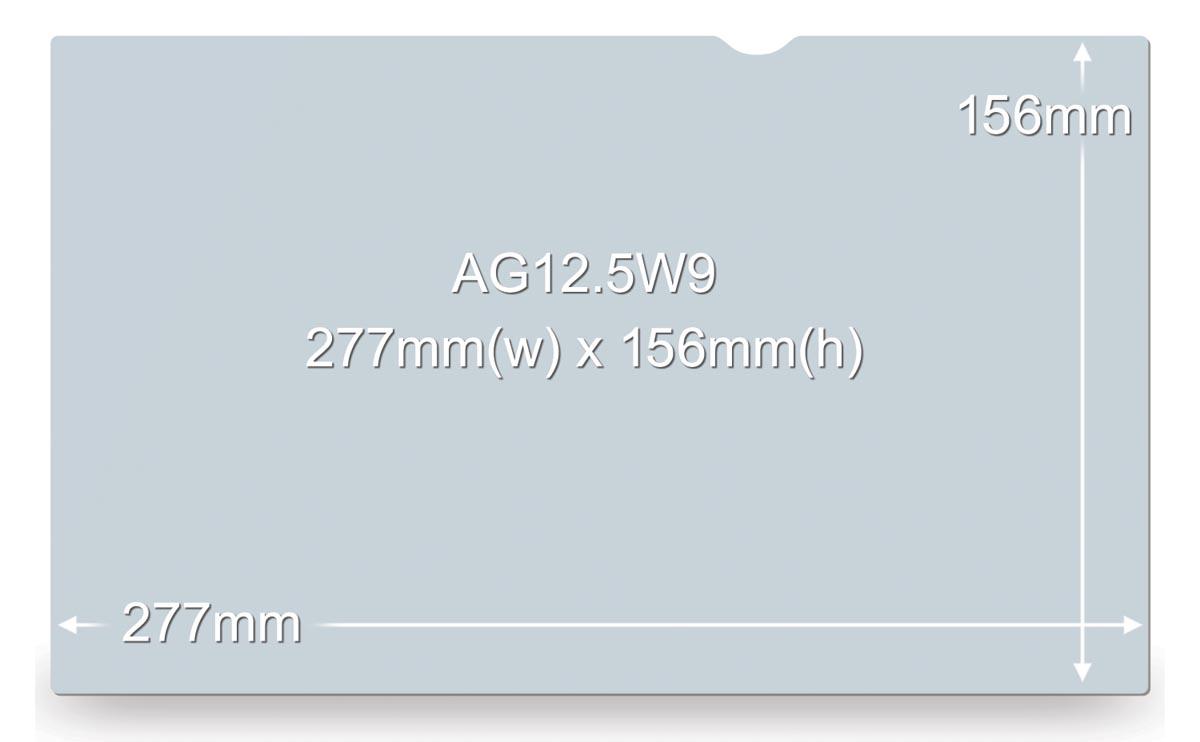 3M anti-glare filter voor laptops van 12,5 inch, 16:9