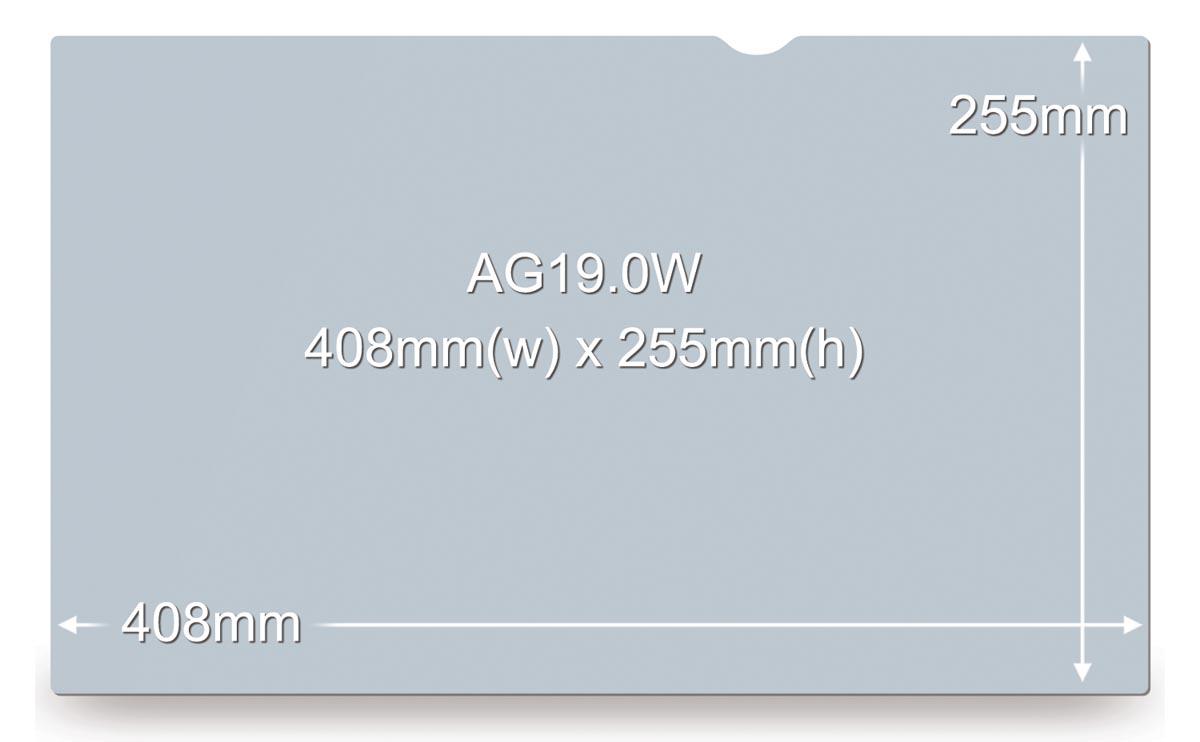 3M anti glare filter voor 19,0 inch schermen, 16:10