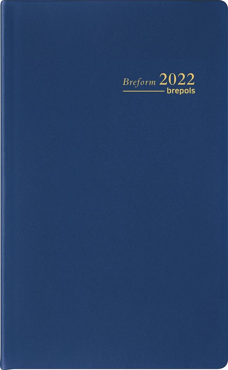 Brepols agenda Breform Seta 6-talig, blauw, 2022