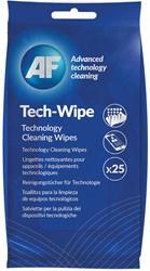 AF reinigingsdoekjes voor mobiele toepassingen, pak van 25 pre-geïmpregneerde doekjes