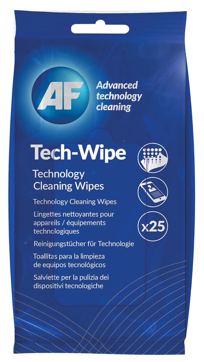AF reinigingsdoekjes voor mobiele toepassingen, pak van 25 pre-ge�mpregneerde doekjes
