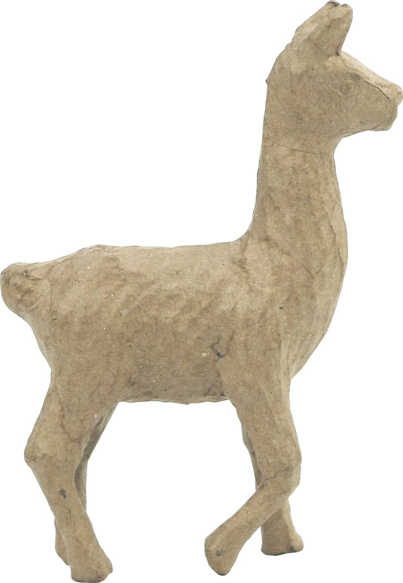 Décopatch lama, papier-maché