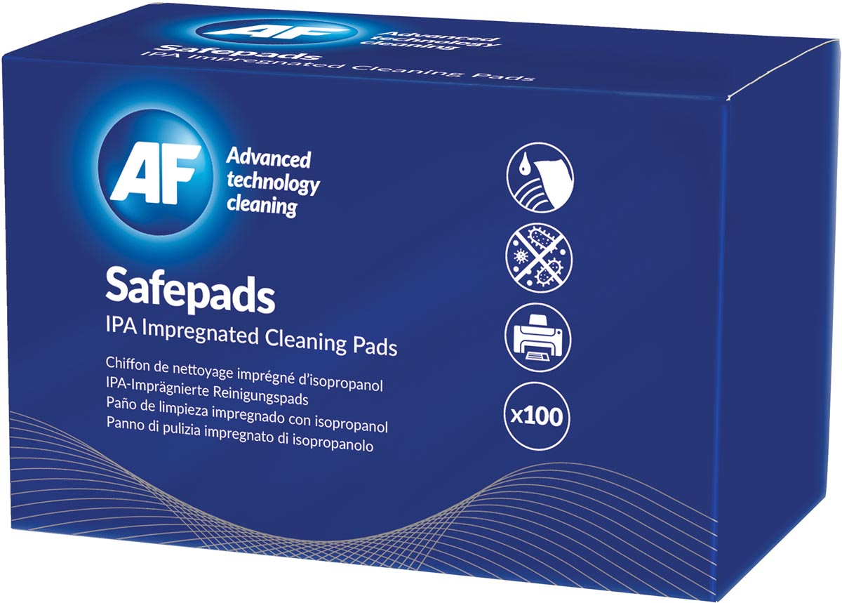 AF Safepads pluisvrije zachte doekjes, doos van 100 stuks