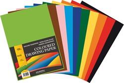 Aurora tekenvel 120 g/m², ft A4, 100 vel in geassorteerde kleuren