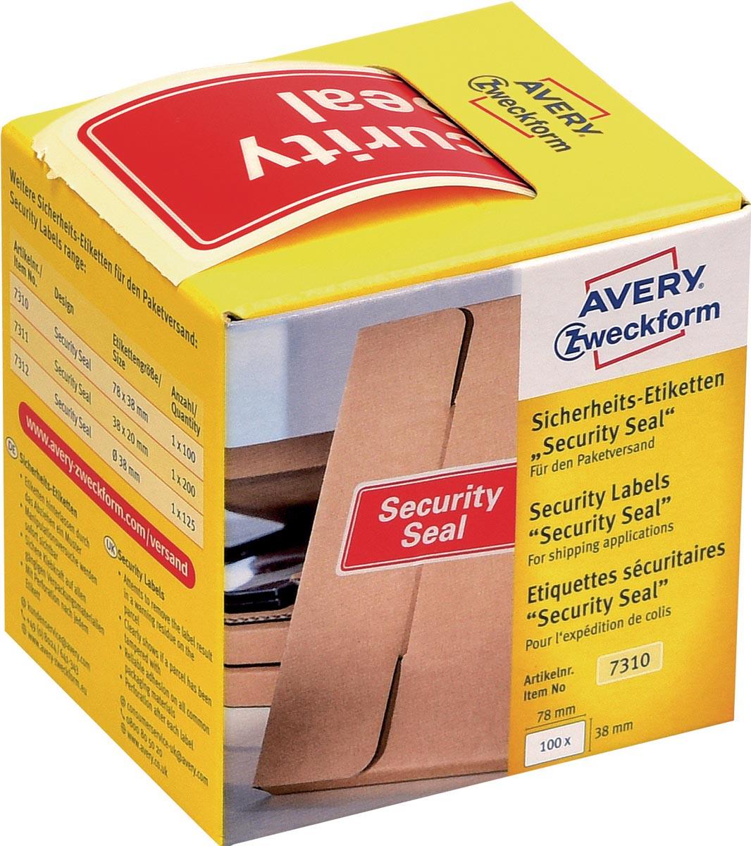 Beveiligingsetiketten Security Seal, doosje van 100 stuks