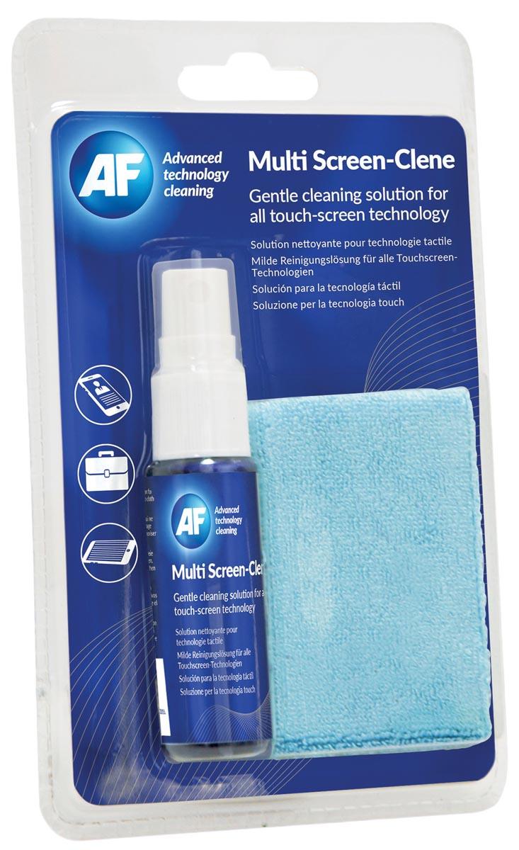AF reiskit: schermreiniger 25 ml en microvezeldoek