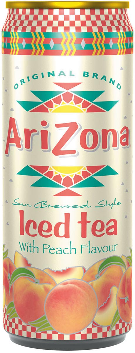 Arizona ijsthee Peach Iced Tea, blik van 33 cl, pak van 12