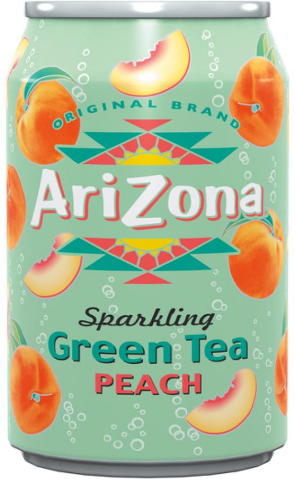 Arizona ijsthee Sparkling Lemon Iced Tea, blik van 33 cl, pak 12 stuks