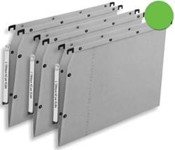 L'oblique hangmappen voor kasten AZV V-bodem, groen