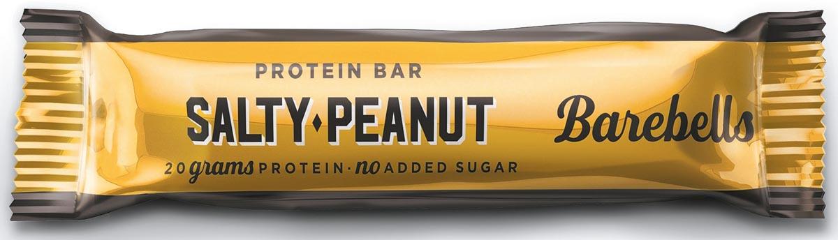 Barebells snack Salty Peanut, reep van 55 g, pak van 12 stuks