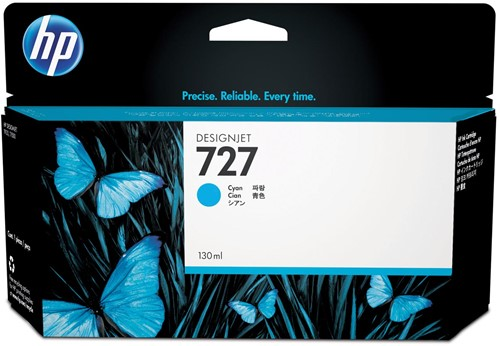 HP inktcartridge 727, 130 ml, OEM B3P19A, cyaan