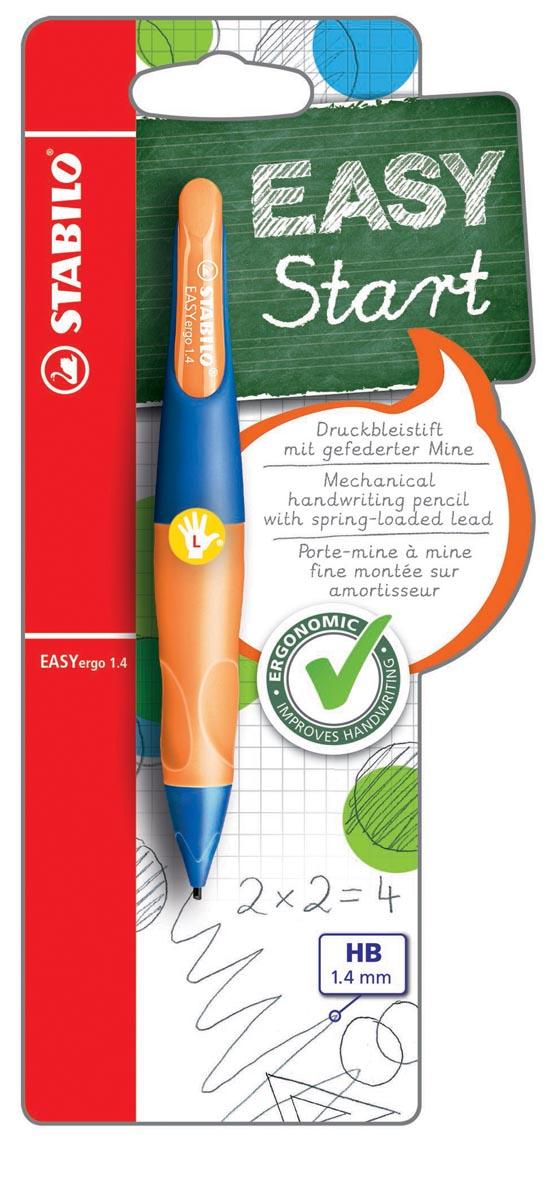 STABILO EASYergo vulpotlood, 1,4 mm, voor linkshandigen, blister van 1 stuk, marine en oranje