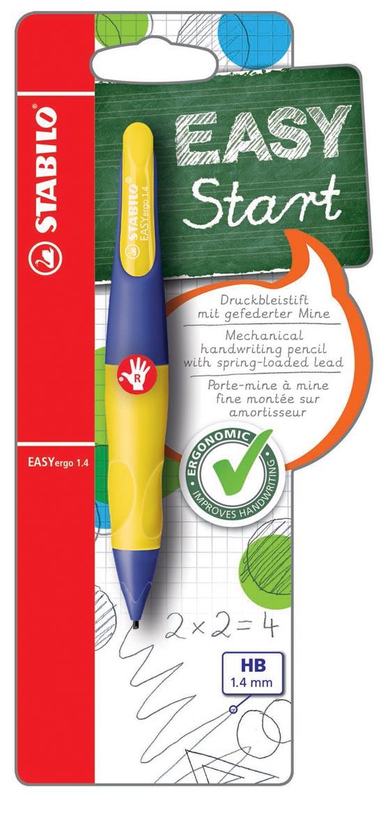STABILO EASYergo vulpotlood, 1,4 mm, voor rechtshandigen, blister van 1 stuk, paars en geel