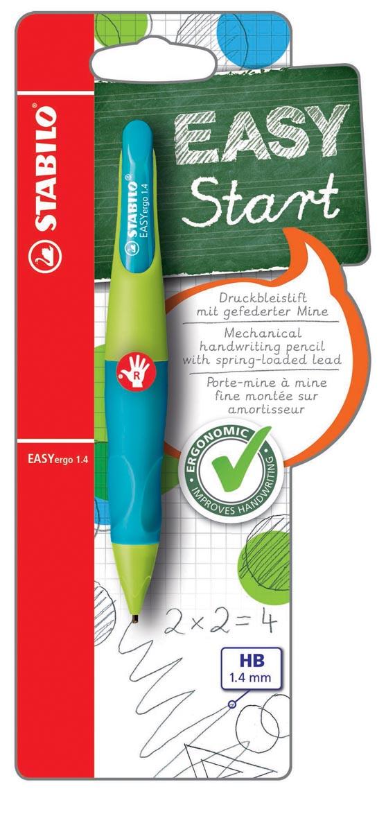 STABILO EASYergo vulpotlood, 1,4 mm, voor rechtshandigen, blister van 1 stuk, groen en marine